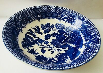 """Flow Blue Soup Bowl * Japan * Blue And White * 6"""" Wide By 1 1/2 High * Free Ship"""