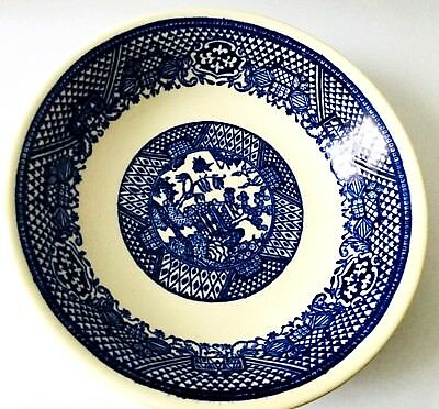 """Pair Of Flow Blue Desert Bowls  5"""" Wide By 1 1/2"""" High * Made In Usa * Free Ship"""