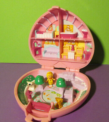 Polly Pocket Mini ♥ rosa Herz ♥ Polly´s Country Cottage ♥ 100% Komplett ♥ 1989 ♥