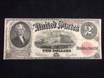 1917 series Jefferson United States Note $2, Two Dollar Bill #501
