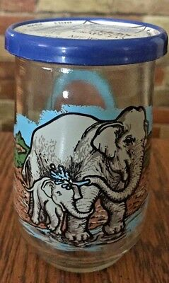 Welch's Jelly Jar Promo Glass #9 Endangered Species Collection Asian Elephant