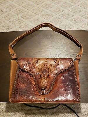 Vintage Genuine Alligator Crocodile Handbag/Purse