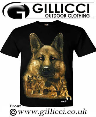 Mens Women German Shepherd Alsatian 3D Large Dog Animal Printed Wild T-shirt Top