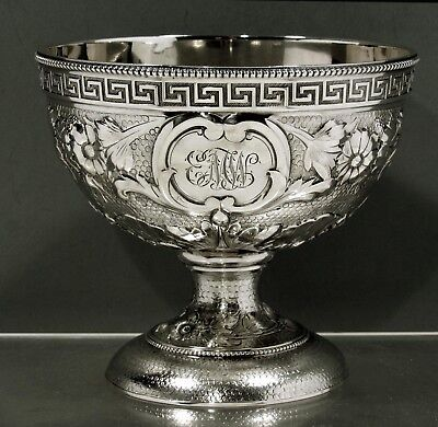 """Tiffany Sterling Silver Bowl        c1856       """" EARLY PRE-CIVIL WARE EXAMPLE """""""