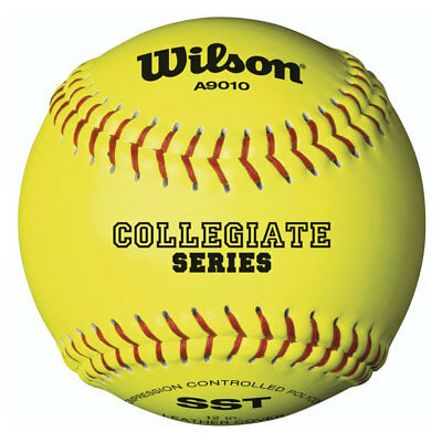 "Wilson High School and Adult Fast Pitch 12"" Balls, Polycore, (1 Dozen)"