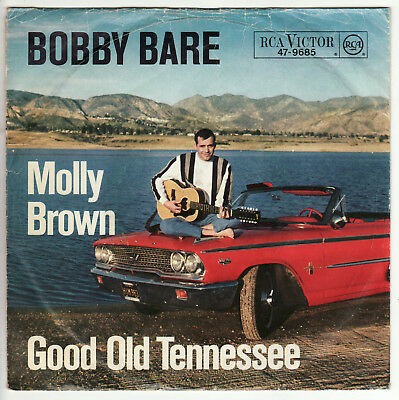 """Bobby Bare - Molly Brown - Good Old Tennessee - 7"""" Single - DE 1965"""