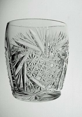 Barrel Shaped Abp Cut Glass Crystal Shot Glass
