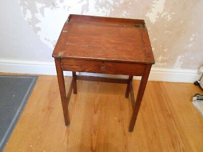 Edwardian pine small school desk