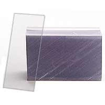 "Hopp HCLR75 Clear Plastic Shelf Tag, 1.25"" x 3"""