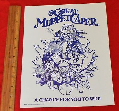 Vintage 1981 Fisher Price The Great Muppet Caper Movie Promo Sales Flyer Ad