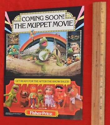 Vintage 1979 Fisher Price Muppet Movie Promotional Sales Flyer Ad Ephemera