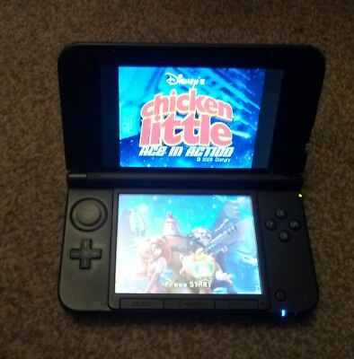 Nintendo 3DS XL Red & Black Handheld System VGC Complete