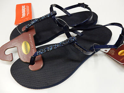 ed14352c6287 HAVAIANAS WOMENS SANDALS You Riviera Crystal Sandal Navy Blue Size 7 ...