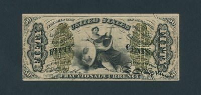 "50 Fifty Cents Third Issue ""JUSTICE"" Fractional Currency 50c  Low Starting Bid"