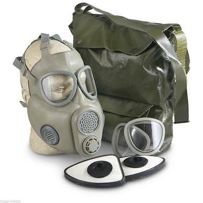 Czech Unissued M10 Gas Mask With Filters and OD Carry Bag - Fast Shipping!