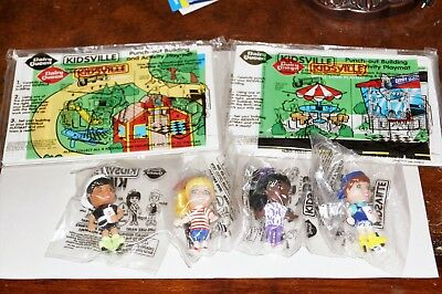RARE DAIRY QUEEN KIDSVILLE KIDS MEAL Set with Playmats! CARDBOARD 1997