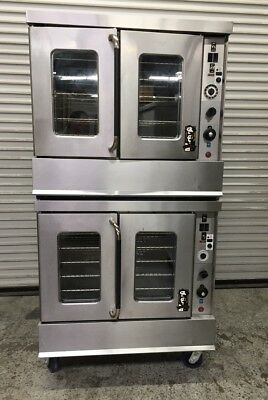 Double Stack Gas Convection Oven Montague 115A #7957 Commercial Bakery Ovens