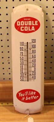 "Double Cola Thermometer Original Metal Sign 5x17"" Tin"