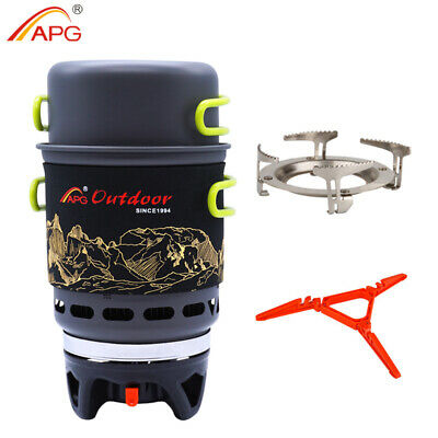 Camping Gas Stove Pot Cooking System Outdoor Hiking Picnic Gas Burner APG