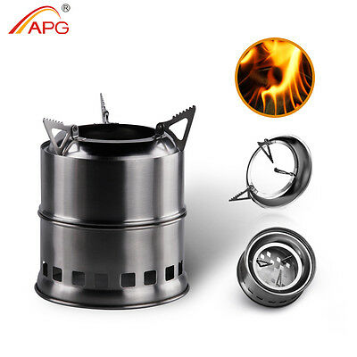 Ultralight Woodgas Camp Stove Outdoor BBQ Cooking Firewood Burner Stoves APG