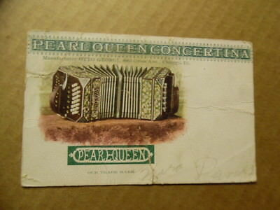 c.1908 Otto Georgi Pearl Queen Concertina Advertising Postcard Chicago Antique