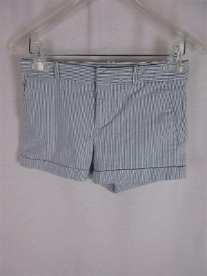 Forever 21 Women's sz XS Blue-Gray Vertical Striped Cotton Stretch Shorts