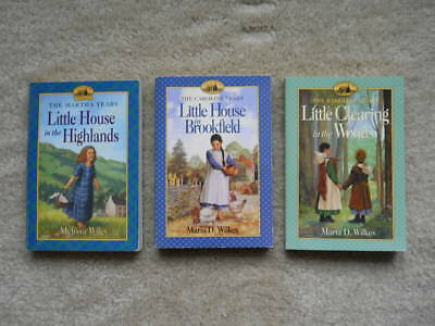 3 Little House Series Books Caroline & Martha Years By M. Wilkes & M. Wiley