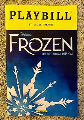 FROZEN playbill - *Discounted *Original Broadway Cast* *FREE quick shipping*