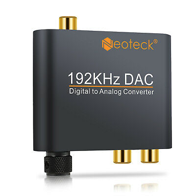 Optical 192KHZ Toslink Digital to Analog Converter DAC Audio Adapter Fr PCM LPCM