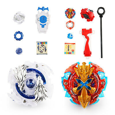 New 4D Fusion Top Metal Master Rapidity Fight Rare Beyblade Launcher Grip Set