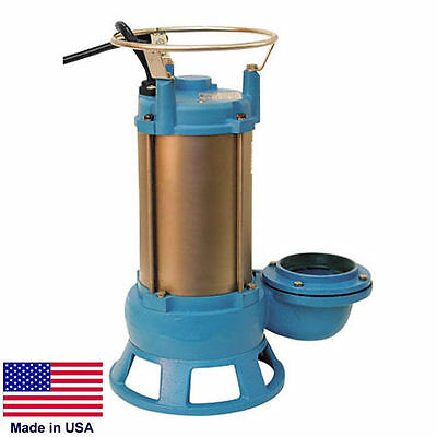 "SEWAGE SHREDDER PUMP Submersible - Industrial - 3"" Port - 2 Hp - 1 Phase - 230V"