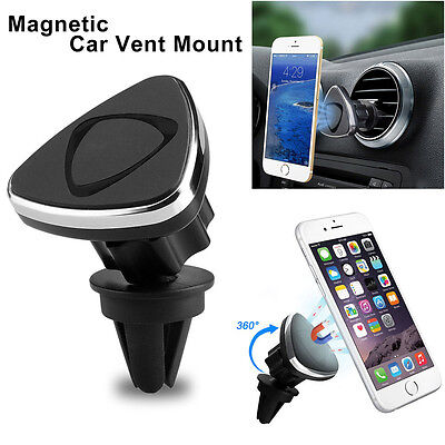 Universal 360° Car Air Vent Mount Sticky Magnetic Stand Holder For CellPhone GPS