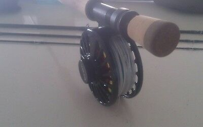 TFO BVK 8wt Temple fork outfitters BVK custom 8wt fly rod and reel combo