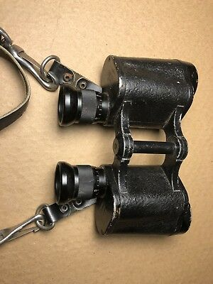 Original 1911 Carl Zeiss Jena Binoculars Dienstglas 6x30 Leather Strap