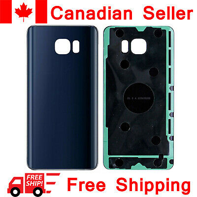 Samsung Galaxy Note 5 Back Glass Battery Door Cover Replacement N910W8 Blue