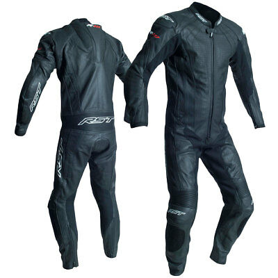 RST R-18 CE Black Motorrad Motorcycle Motorbike One Piece Leather Suit All Sizes