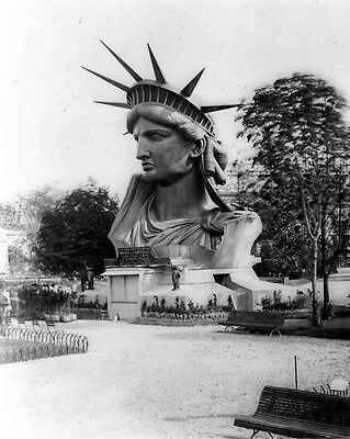 New 11x14 Photo: Head of Statue of Liberty on Display in Paris France, 1883