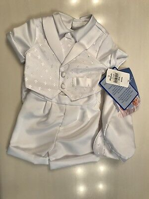 Baby,Toddler Boys,  Christening Baptism Outfit 3 PIECE Set Size: 18 MONTHS