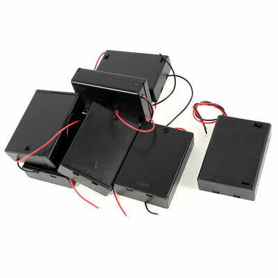 7 Pieces Black Cover Wires Lead 1.5V Battery Holder Case Box for 3x AA Batteries