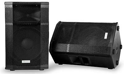 "Dj Pa Lautsprecher Monitor Box Passiv Disco Konzert 15"" Speaker 250W Stage Paar"