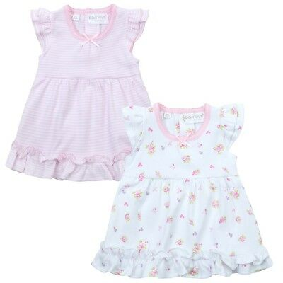 Baby girls pink striped floral bodyvest dress summer nb 1--3-6-9 months gift new