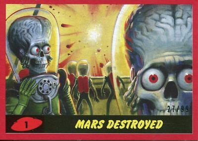 Mars Attacks The Revenge 2017 Complete 55 Card Red Parallel [99] Base Set