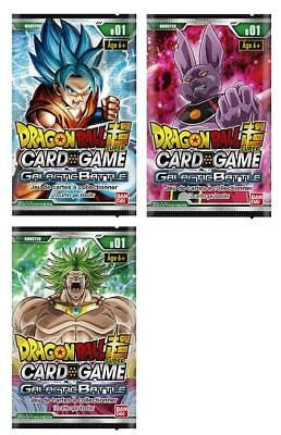 Dragon Ball Super Card Game  : 1 Booster  Galactic Battle VF - Neuf