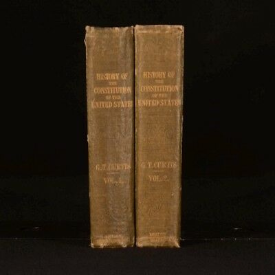 1854 2vol History of the Origin Constitution of United States First Scace UK Ed