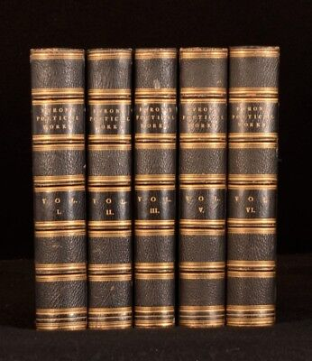 1879 5vol The Poetical Works of Lord Byron Plates New Edition
