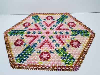 Hand made in Poland Napkin from beads 39 x 39 cm