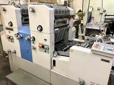 2008 RYOBI 3302HA 2-Color Press + Auto Plate + 8 Million Imps + Tempest Dryer