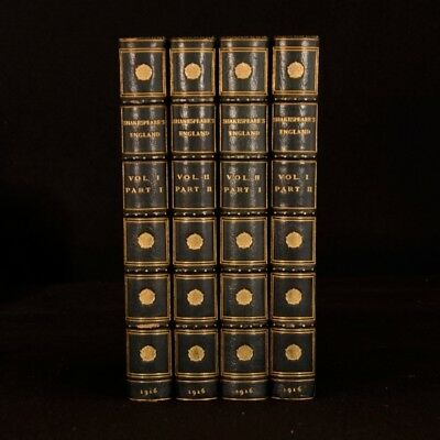 1916 2vols in 4 Shakespeares England Life and Manners of His Age Bickers Binding