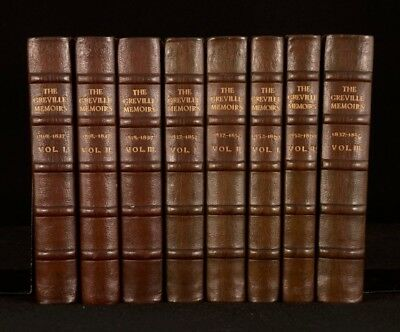 1875 8vols The Greville Memoirs A Journal of the Reigns George William Victoria