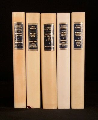 1951-7 5Vols The Yale Editions Of The Private Papers of James Boswell Ltd Eds